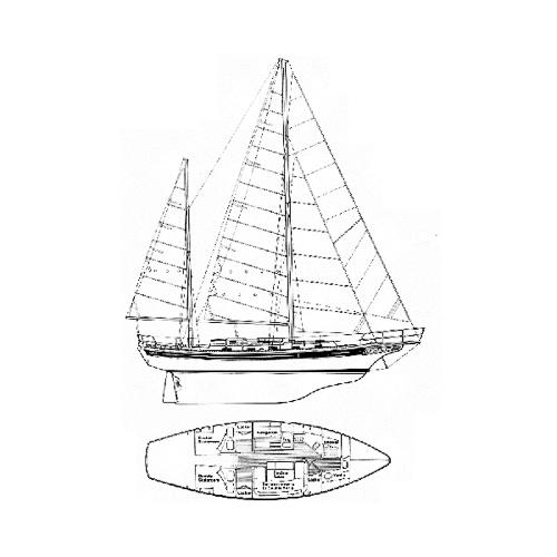 Illustration of a Bayfield 40