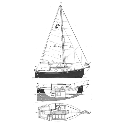 Illustration of a Flicka 20