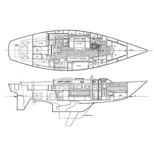 Illustration of a Hinckley Sou'wester 42