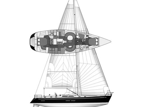 Illustration of a Hylas 54