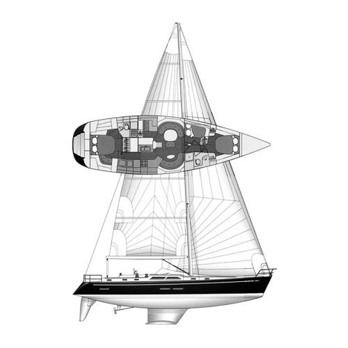 Illustration of a Hylas 54