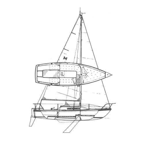 Illustration of a Macgregor 21