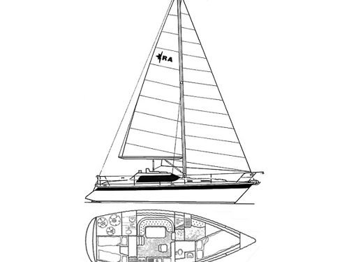 Illustration of a Riviera 35