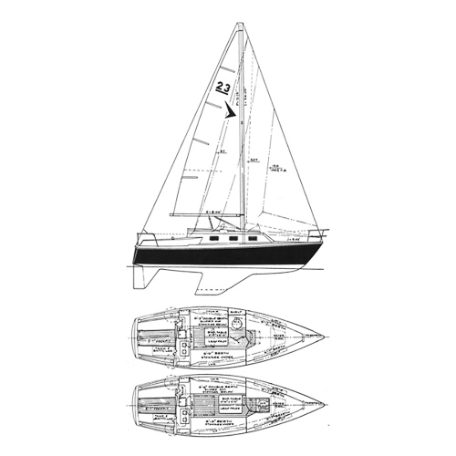 Illustration of a Seafarer 23 Challenger